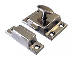 Small Steel cupboard catch 45mm Chrome