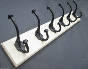 Black Antique Coat Rack