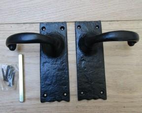 Pair Of Lever Latch Merlin Handles Black Antique