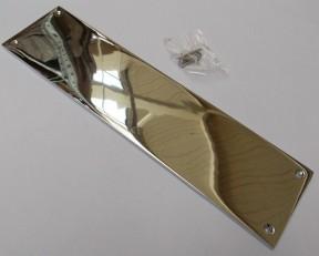 Plain Victorian Polished Chrome Finger Plate