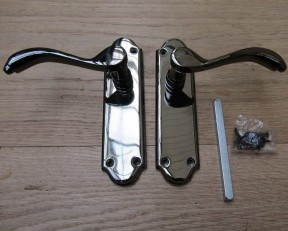 Pair of Florida Lever Latch Handles black nickel