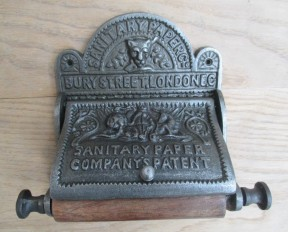 Bury St London Toilet Roll Holder Antique Iron