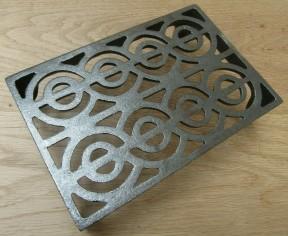 "9"" x 6"" Regency Scroll Air Brick Antique Iron"