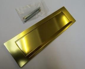 "10"" Gravity Letter Plate Gold Aluminium"