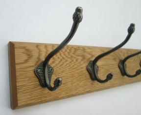 Antique Iron Pineapple Tip 2 Hook Coat Rail 27cm