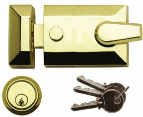 Architectural Front Door Standard Night Latch Brass