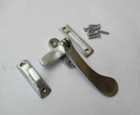 Satin Brushed Chrome Hook Mortice Fastener