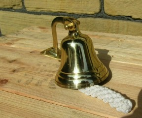 "3"" Ships Bell Polished Brass"