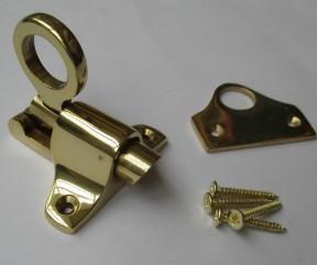 Polished Brass Attic Fanlight Catch