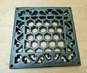 Heritage Flat Grille Cover Black Antique