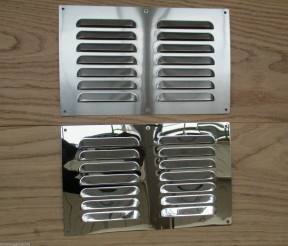 "9"" x 6"" Steel Air Vent Polished Chrome"