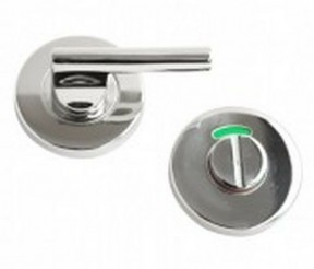 Bathroom Thumb Turn Door lock Polished Steel- Disabled