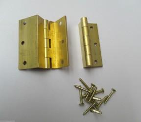 Pair of Stormproof hinge Brass
