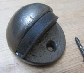 Door Stopper Half Moon Antique Iron