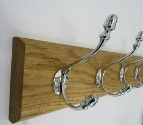 Polished Chrome Acorn 2 Hook Coat Rail 27cm