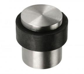Door Stopper Cylinder Satin Steel