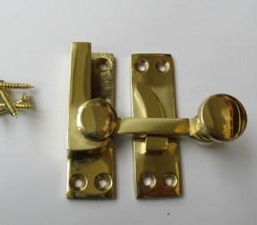 Quadrant Arm fastener Polished Brass