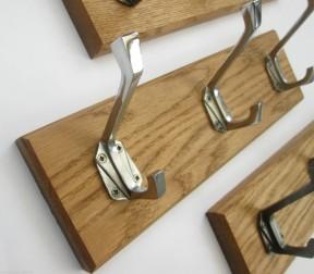 Polished Chrome Art Decor 5 Hook Coat Rail 58cm