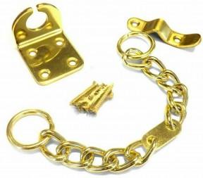 Chunky Door Chain Polished Brass