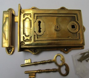 Solid Brass Construction Left Hand Davenport Lock Brass