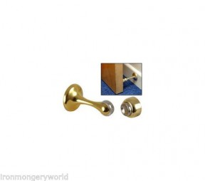 Polished brass magnetic door holder