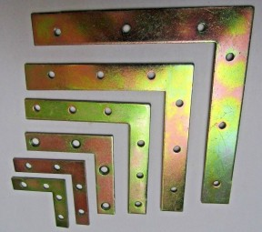 """Pack Of 4 Yellow Passivated L Plates 5"""""""