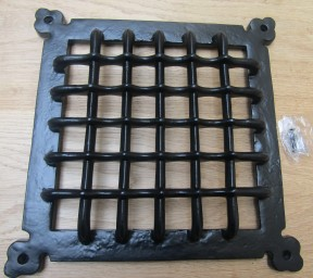 "12"" Gothic Medieval Grille Cover Black Antique"