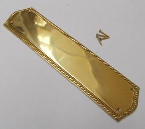Regency Georgian Brass Finger Plate