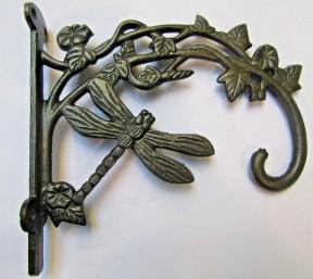Dragonfly Hook Bracket Antique Iron