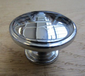 Oxford Round Cabinet Knob Polished Chrome