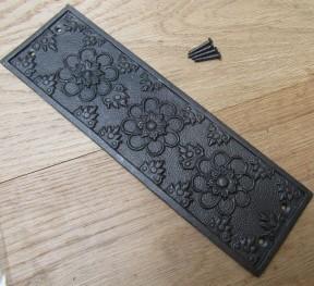 Antique Iron Ellerker Finger Plate