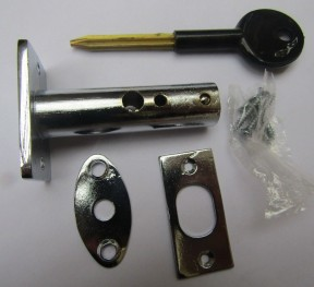 Polished Chrome door Rackbolt + Key