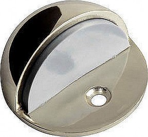 Polished nickel half moon door stop