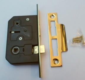 "Bathroom Sashlock 2.5"" Brass"