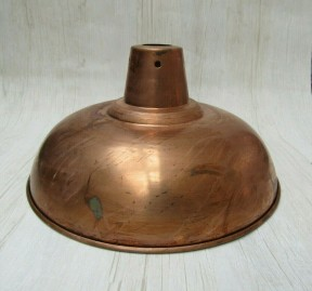 "Retro Light shade 14"" Pool Table Antique Copper"