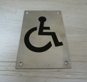 "6"" Stainless Steel Disabled Door Sign"