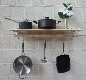 White Kitchen Pot Pan Rack 1.5m