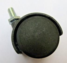 Furniture Swivel Wheel Black Bolt fix/threaded