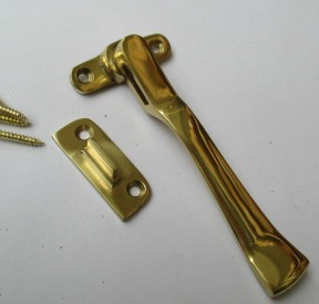 Wedge Fastener Polished Brass