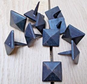 Pack of 10 Diamond Door Studs Black 28mm