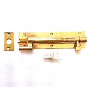 "8"" Necked Door Bolt Polished Brass"