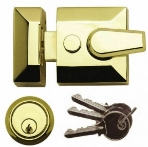 Architectural Front Door Narrow Night Latch Brass