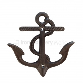 Anchor Coat Hook Antique Iron