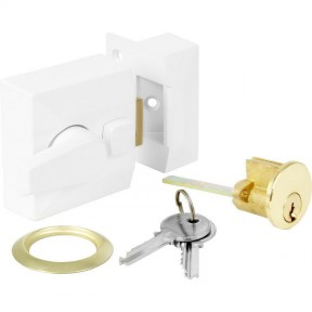 Architectural Front Door Narrow Night Latch White