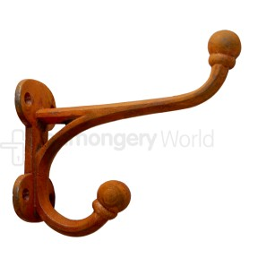 Ball Tip Hall Stand Coat Hook Rust