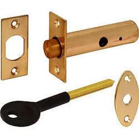 Brass door security rack bolt