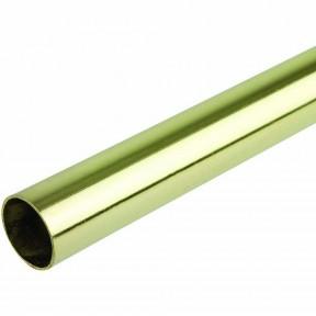 Brass Retro Wardrobe Fittings 25mm x 900mm Rail