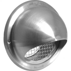 """6"""" Stainless Steel Bull Nose Vent & Grill"""
