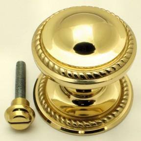 Georgian Centre Door Knob Polished Brass