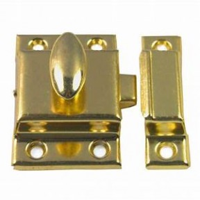 Small Steel cupboard catch 45mm Brass